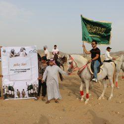 مركز حي الرياض ينظم مسيرة معايدة لجنودنا البواسل بمشاركة 100 خَيل وخيال