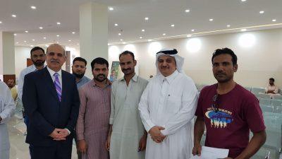 السفير نواف المالكي يزور مقر سفارة باكستان في الرياض