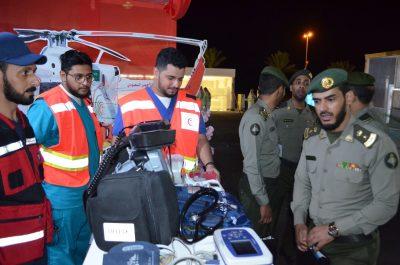 الهلال الأحمر السعودي بالطائف يشارك في الفعاليات المصاحبة لمهرجان سباق ولي العهد للهجن