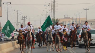 عسفان تحتفل باليوم الوطني ومحافظات شمال مكة تشاركها الفرحة