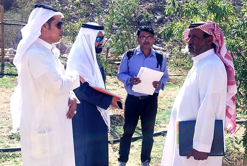 البيئة وشركات التوثيق تفتش  المزارع العضوية و المتحولة للزراعة العضويةفي منطقة مكة المكرمة