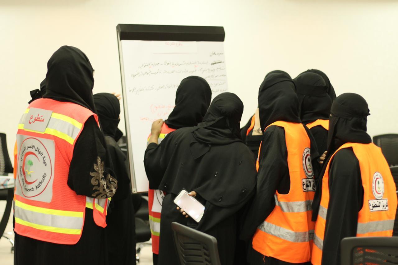 هيئة الهلال الأحمر بمنطقة مكة تنفذ برنامج (دليل إدارة الكوارث)