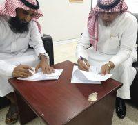 توقيع عقد شراكة مجتمعية بين مدرسة البريكة المتوسطة والثانوية ومؤسسة عطا الله للمقاولات العامة