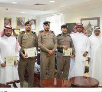 مدير شرطة منطقة مكة المكرمة يٌكرم عددا من منسوبي شرطة الجموم