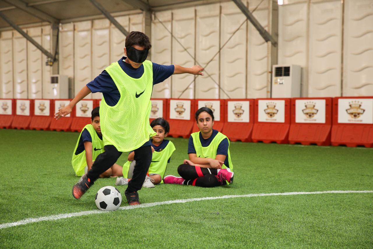إثراء ينظم فعالية كرة القدم للمكفوفين وضعاف البصر ضمن موسم تنوين الثاني