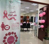 معهد الإدارة النسائي بالدمام يثقف منسوباته عن سرطان الثدي