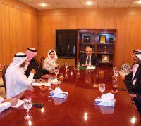 السفير المصري يستقبل وفد المنظمة العربية للسلام والتنمية بالرياض