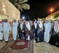 عمدة ومشايخ وأعيان خليص في ضيافة الشيخ سعود المرزوقي