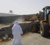 إزالة تعديات بمساحة  15,000 ألف متر مربع بمنطقه الحسينية بمكة المكرمة