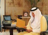 إستقبال الأمير خالد الفيصل لمدير جامعة الطائف بمقر الإمارة بجدة