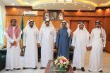 رئيس وأعضاء بلدي خليص في زيارة لمبنى بلدية خليص الجديد