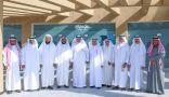 عمدة ومشائخ خليص يزورون رئيس بلدية خليص في المبنى الجديد