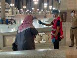 الفرق التطوعية لهيئة الهلال الأحمر بالمدينة تشارك في الفرز البصري في المسجد النبوي والمساجد الكبرى