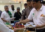 أكلات شعبية على مائدة هايكنج السعودية بمحافظة الجموم