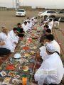 بالصور .. أهالي قرية دوقة يقيمون الإفطار الرمضاني الجماعي